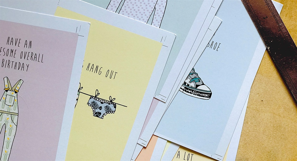 Ainsley Waite cards to laugh with