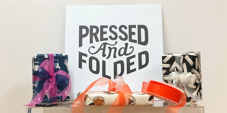 Pressed and Folded - Cards and Wrap